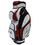 TAYLORMADE CORZA CART BAG WHITE/RED