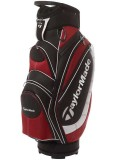 TAYLORMADE MONACO CART BAG  BLACK/RED