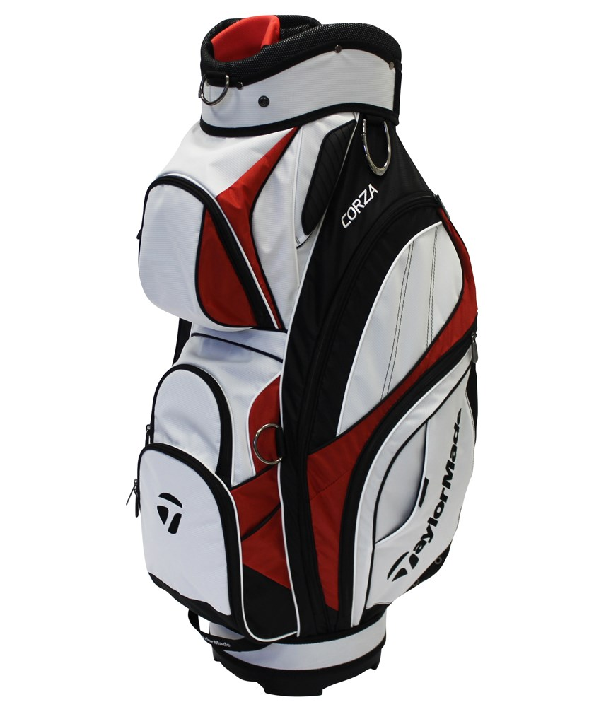 5b56cab5fe TAYLORMADE CORZA CART BAG WHITE RED - Golf Factory Outlet