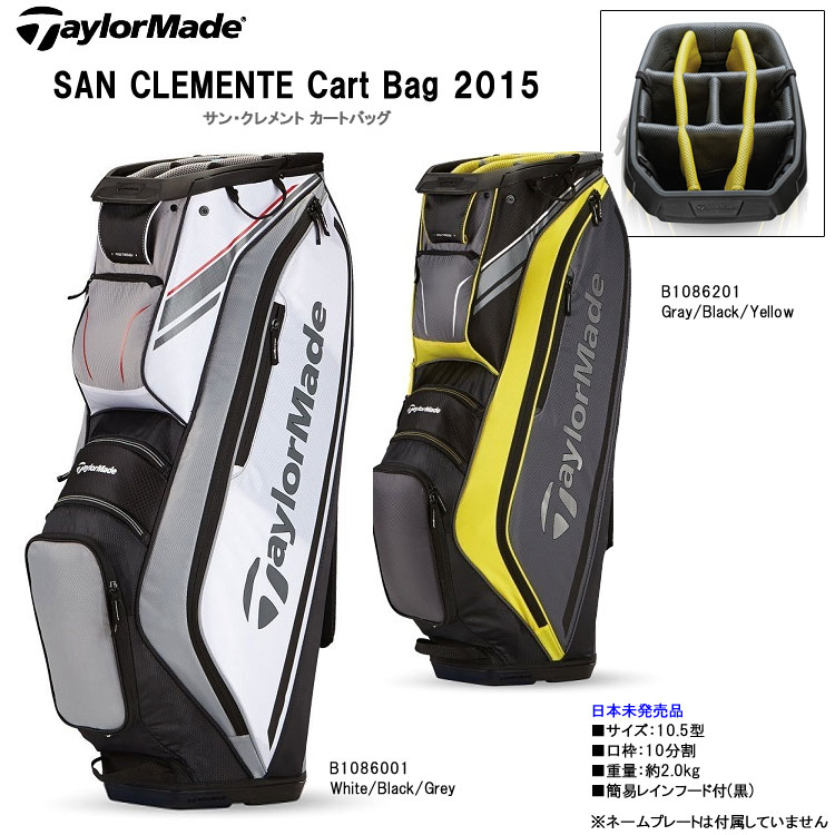 c82095ae1e TaylorMade San Clemente Cart Bag BLACK - Golf Factory Outlet