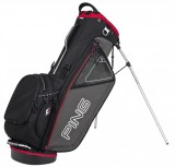 PING HOOFER STAND BAG CHARCOL/RED